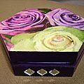 Boîte à bijoux Roses - violet