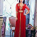 <b>Caftan</b> marocain <b>rouge</b> 2014