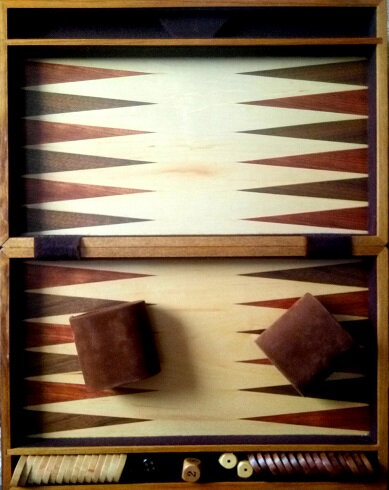 Backgammon de luxe en bois