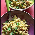 Les défis culinaires : qui n'aime pas le quinoa? - quinoa végétarien au curry.