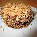 Gâteau mousse bi-couche et croustillant
