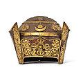 A rare partial gilt-copper <b>lama</b> crown, Tibet, 16th century