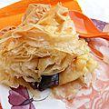 Tourte en pâte à filo, pruneaux/pommes/pâte d'amande, quand le meilleur patissier vous met sur la voie de vos souvenirs