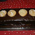 Buche poire-chocolat