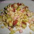 0821 Blé au Comté, légumes et jambon