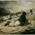 Monge, le clairon de Turcos blessé, 1884
