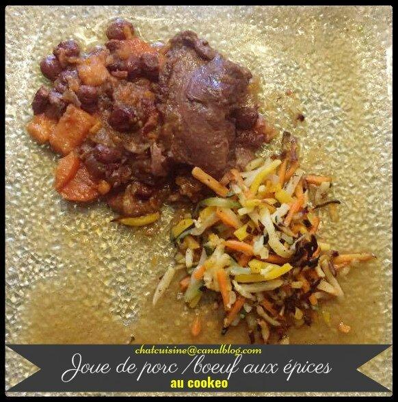 Joue de porc ou bœuf aux épices au cookeo