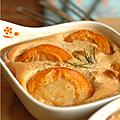 Profiter des derniers abricots avec un petit gratin à la pâte d'amande, au romarin et à l'amaretto