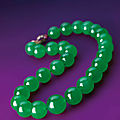 The Hutton-Mdivani <b>necklace</b> sets world auction record for any Jadeite at Sotheby's Hong Kong