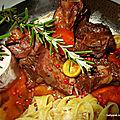 Estouffade de boeuf aux pâtes fraîches plat provencal
