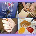 La peinture à l'huile, c'est bien difficile !! la peinture à l'oeuf fait un effet boeuf !!!