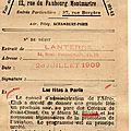 L'argus de la presse . 1909 .la lanterne.