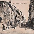 Bayonne la rue d'espagne carte postale ancienne