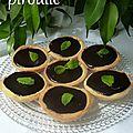 Tartelettes au chocolat et à la menthe fraîche