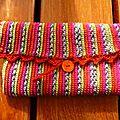 pochette en laine à chaussettes