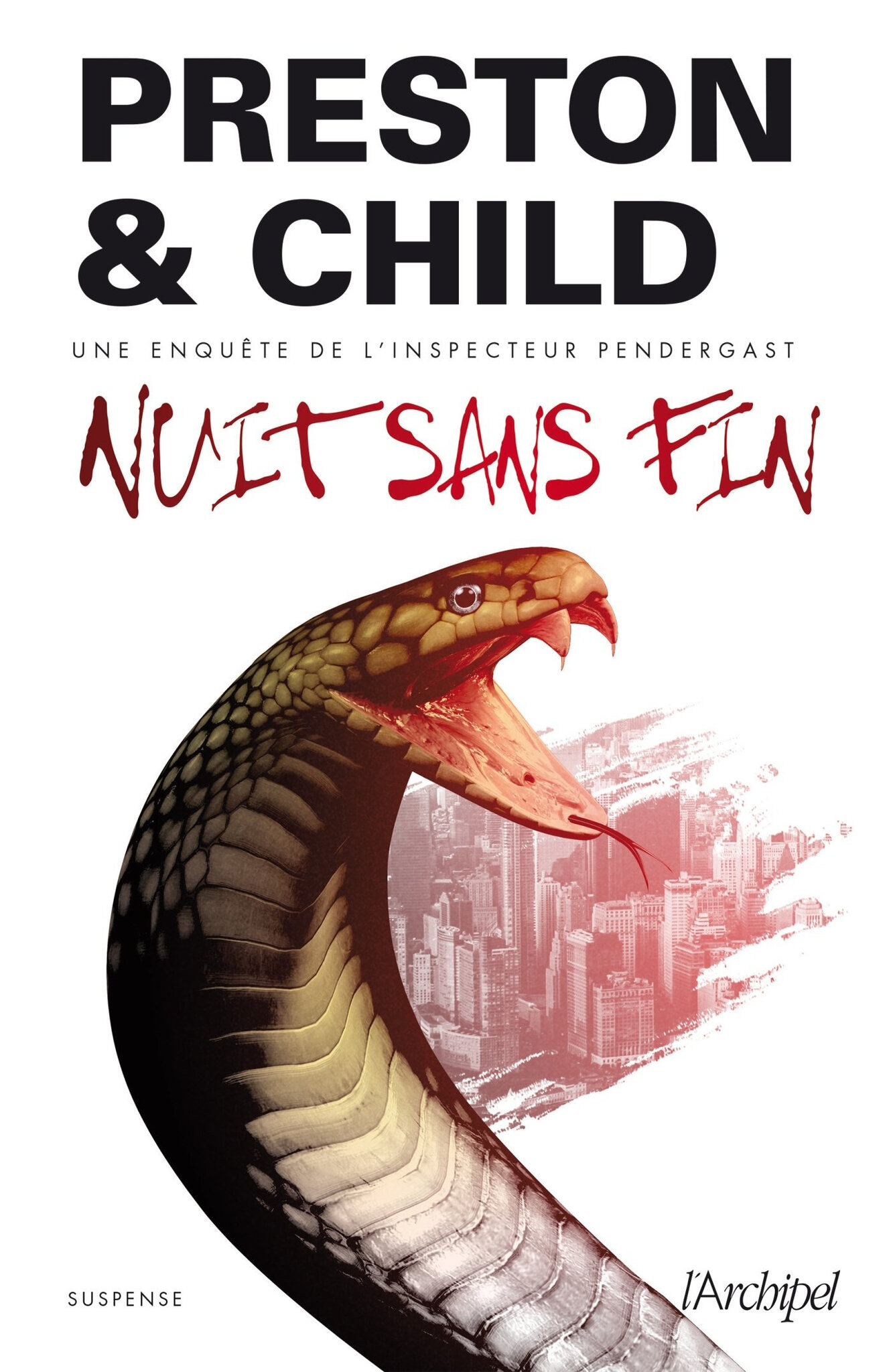 """Nuit sans fin"" de Preston & Child aux Éditions l'Archipel"