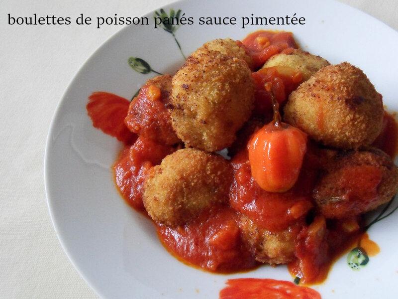 boulettes de poisson panés sauce pimentée2