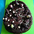 Nid de pâques au chocolat noir, sans gluten, sans lait