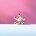 A 2.76 carats rectangular-cut fancy pink diamond and pink sapphire ring, by etcetera