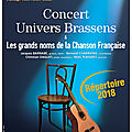 Groupe univers brassens a l'eac