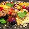 Sauté d'agneau aux olives et citron confit
