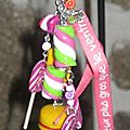 porte clefs gourmandises made in Aurore
