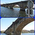 Le pont ferroviaire sur la dordogne a mauzac (24 dordogne)