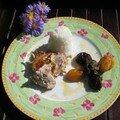 Rôti de porc aux abricots,pruneaux et champignons