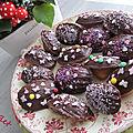 Madeleines vanille au coeur fondant nutella