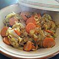 Tajine de poulet, fenouil et carottes !