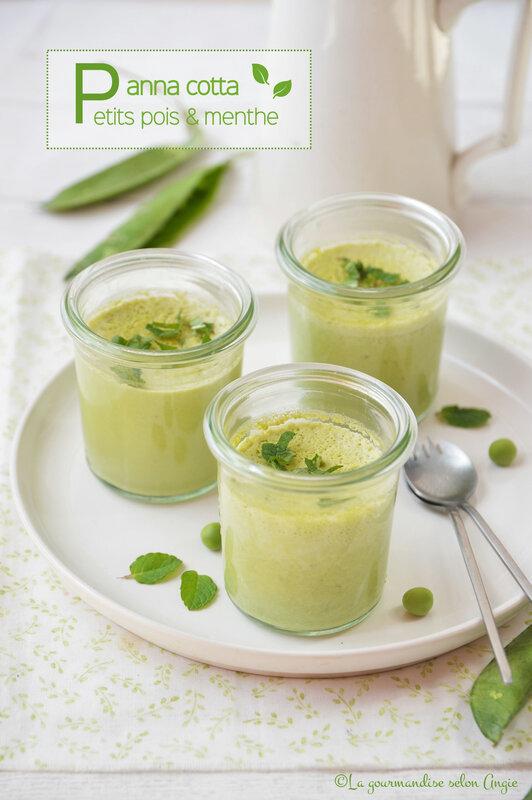 panna cotta végétale aux petits pois et menthe sans lactose (1)