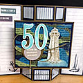 50 ANS - <b>Carte</b> Anniversaire - Stampin'Up! et Toga
