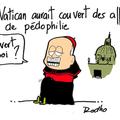 Vatican, pédophilie,scandale, pape et sous la couverture