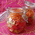 Verrines multicolores à l'huile d'argan