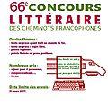 66e concours littéraire des cheminots francophones