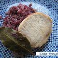 Rôti de porc braisé au chou rouge