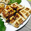 Recette facile de croque monsieur jambon/chorizo/emmental au <b>gaufrier</b>