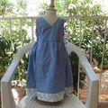 Robe chasuble bleue IM1141 - devant croisé