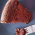Moelleux très fondant au chocolat ......et à la courgette......