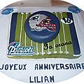 Gâteau football américain/american football cake