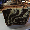 Cake marbre chocolat, vanille et feve de tonka
