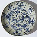 Plat à décor de quatre canards, Chine, Fours de <b>Zhangzhou</b>, dynastie des Ming, période Wanli (1573-1619)