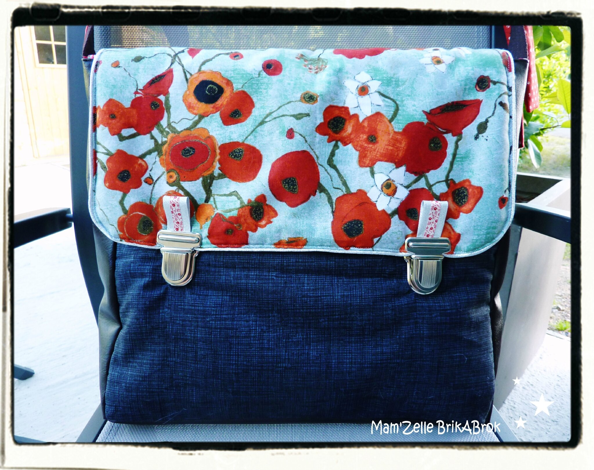 Besace coquelicots femme