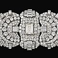 Diamond triple-<b>clip</b> <b>brooch</b>, Bulgari, 1930s