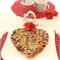 Un coeur torsadé pour la saint valentin.....