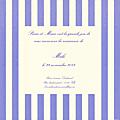 FP rayures verticales larges bleu blanc modèle Malo