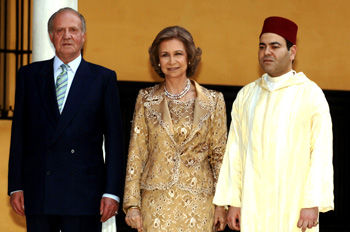 Prince Moulay Rachid Shares Cultural Mission with Spanish King and Queen at the inauguration of an important exhibition on the life and work of the Arab thinker Ibn Khaldoun. 5/19/2006