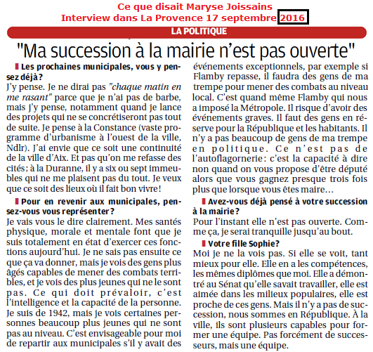Joissains interview dans La Provence 17 septembre 2016 - Copie