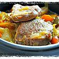 Filet mignon de porc aux petits légumes sauce à la soupe