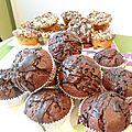 Muffins tout chocolat !